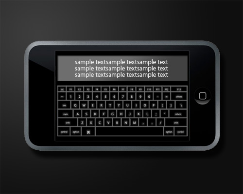 horizontal keyboard app