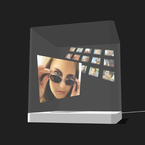 3D Display showing photo slide show