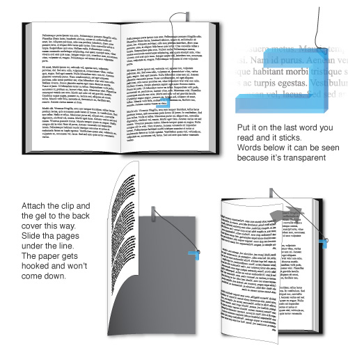 bookmark to remember the last WORD you read, not the page