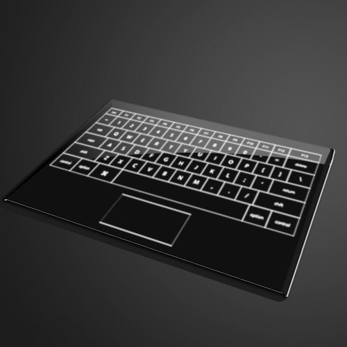 detachable touch screen working as keyboard