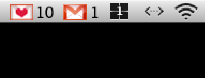 customize gmail icon in menu bar