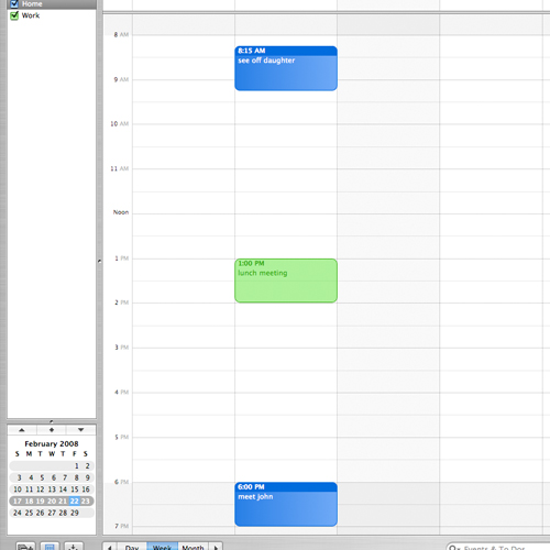 iCal Watch