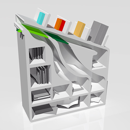 bookshelf for super-lazy people
