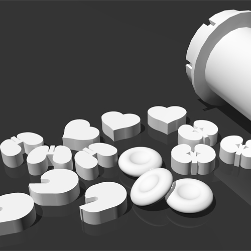 organ shaped pills