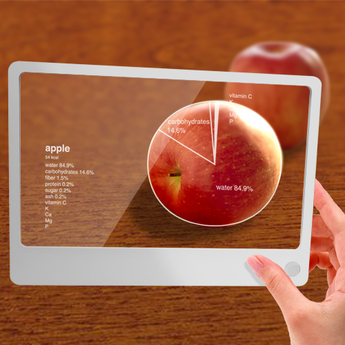 future tablet computer with image of apple