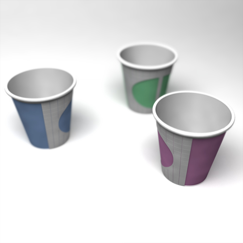 personalizing paper cup
