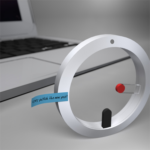 mac-like aluminum desktop clock