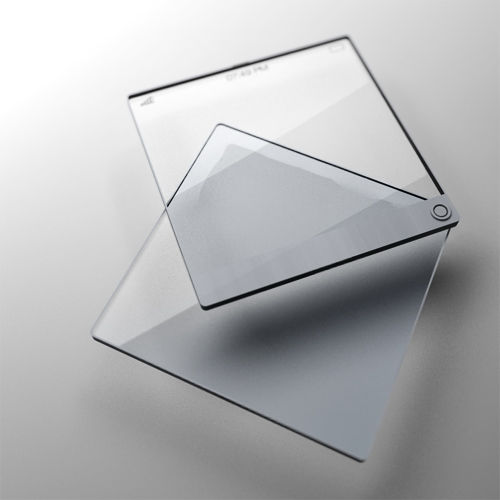 """Double layered transparent screen for a mobile phone would give a feeling of """"depth""""."""