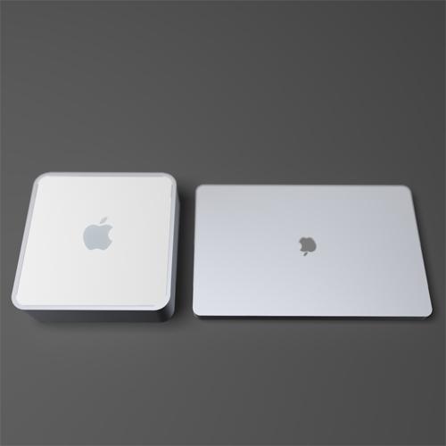 wider but thinner than mac mini