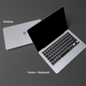 optional keyboard + screen