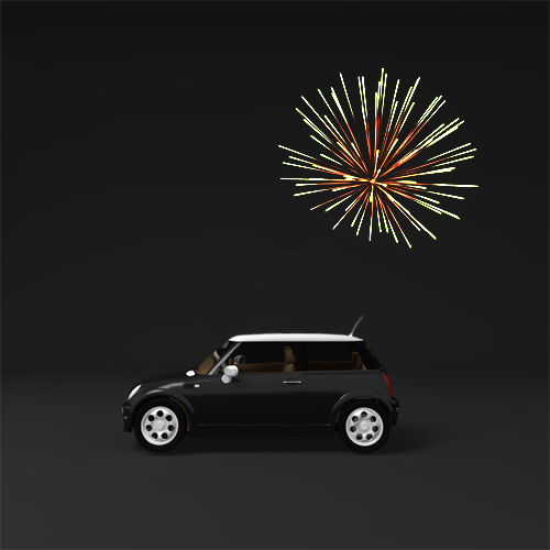 fireworks to pinpoint your car