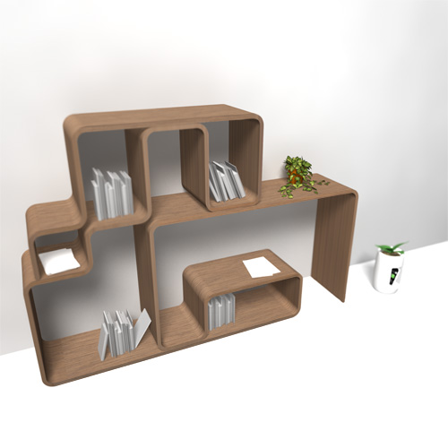 single plate bookshelf