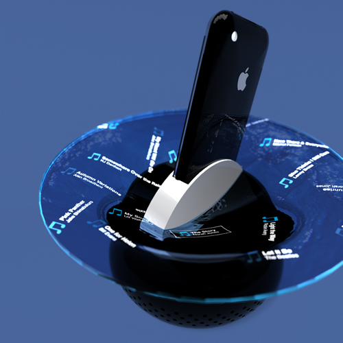 iAcqua- iPhone speaker, visualizer, projector