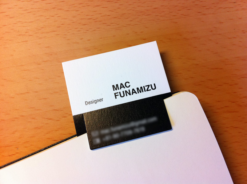 My Business Card Design | Mac Funamizu Design Blog