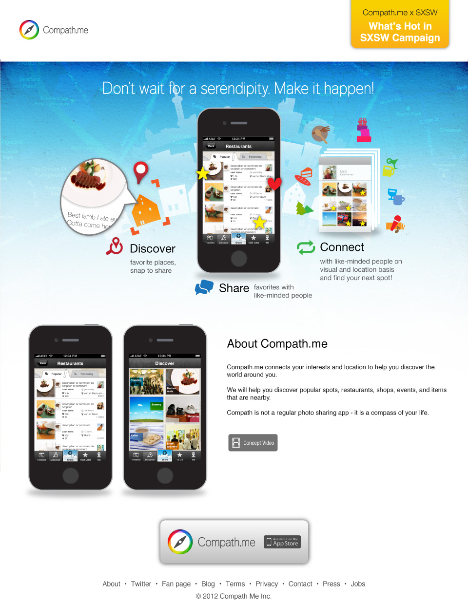 compath me iphone app design petitinvention concept video